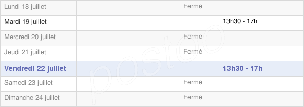 horaires d'ouverture de la Mairie De Verrey-Sous-Salmaise