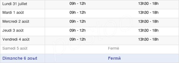 horaires d'ouverture de la Mairie De Chevigny-Saint-Sauveur