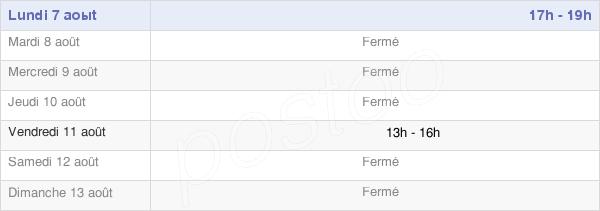 horaires d'ouverture de la Mairie De Chorey-Les-Beaune