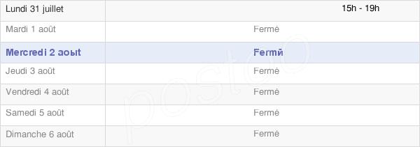 horaires d'ouverture de la Mairie De Lucey