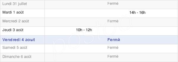 horaires d'ouverture de la Mairie De Quincy-Le-Vicomte