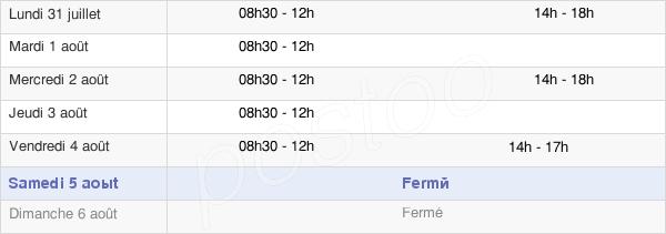 horaires d'ouverture de la Mairie De Mirebeau-Sur-Bèze