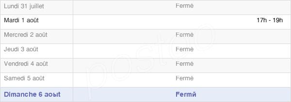 horaires d'ouverture de la Mairie De Forléans