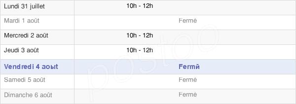 horaires d'ouverture de la Mairie De Saint-Romain