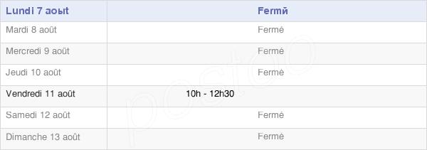 horaires d'ouverture de la Mairie D'Écutigny