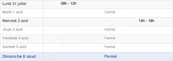 horaires d'ouverture de la Mairie De Pont