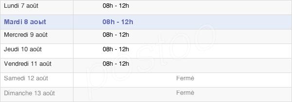 horaires d'ouverture de la Mairie De Meursault