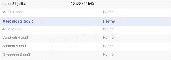 horaires d'ouverture de la Mairie De Marey-Lès-Fussey