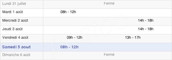 horaires d'ouverture de la Mairie De Corcelles-Les-Monts