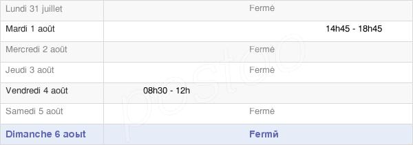 horaires d'ouverture de la Mairie De Genay