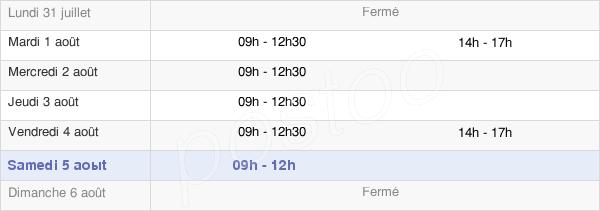 horaires d'ouverture de la Mairie De Saint-Sauveur-Des-Landes