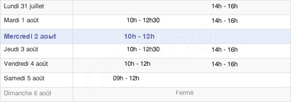 horaires d'ouverture de la Mairie D'Erbrée