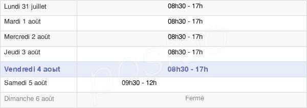 horaires d'ouverture de la Mairie De Rennes