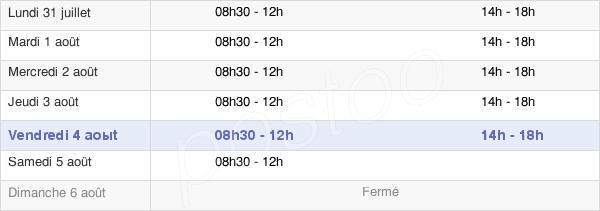 horaires d'ouverture de la Mairie De Guichen