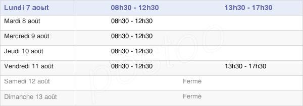 horaires d'ouverture de la Mairie De Pleugueneuc