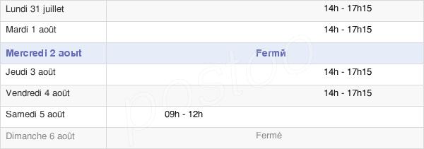 horaires d'ouverture de la Mairie De Saint-Christophe-Des-Bois