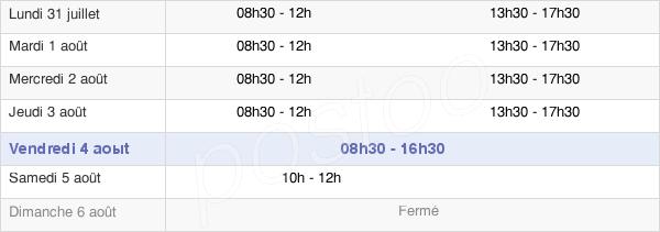 horaires d'ouverture de la Mairie De Saint-Jacques-De-La-Lande