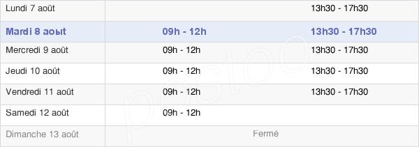 horaires d'ouverture de la Mairie De Bourg-Des-Comptes