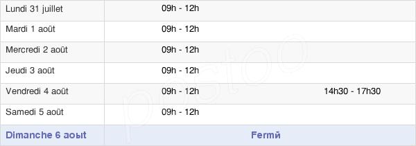 horaires d'ouverture de la Mairie De Livré-Sur-Changeon
