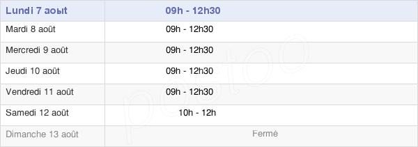 horaires d'ouverture de la Mairie De Dingé