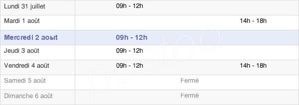 horaires d'ouverture de la Mairie De Saint-Germain-Sur-Ille