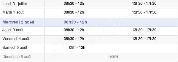 horaires d'ouverture de la Mairie De Saint-Hilaire-Des-Landes