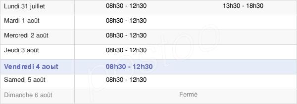horaires d'ouverture de la Mairie Du Theil-De-Bretagne