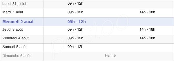 horaires d'ouverture de la Mairie De Gosné