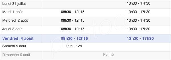 horaires d'ouverture de la Mairie De Mordelles