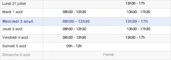 horaires d'ouverture de la Mairie Du Rheu