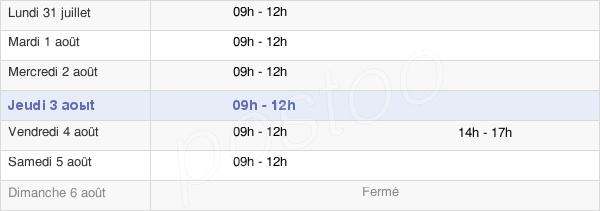 horaires d'ouverture de la Mairie De Domagné