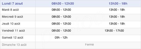 horaires d'ouverture de la Mairie De Vitré