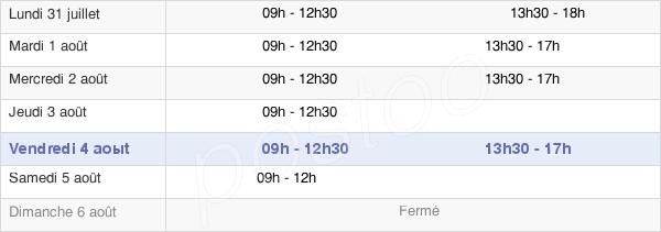 horaires d'ouverture de la Mairie De Gévezé