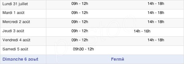 horaires d'ouverture de la Mairie De Montfort-Sur-Meu