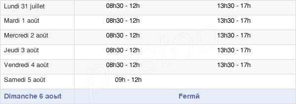 horaires d'ouverture de la Mairie De Carnoux En Provence