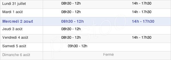 horaires d'ouverture de la Mairie De Plerguer