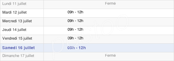horaires d'ouverture de la Mairie D'Eancé