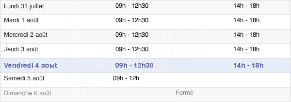 horaires d'ouverture de la Mairie D'Acigné