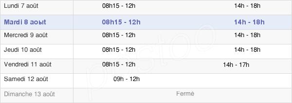 horaires d'ouverture de la Mairie De Pacé