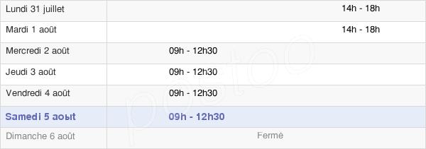 horaires d'ouverture de la Mairie De Pancé