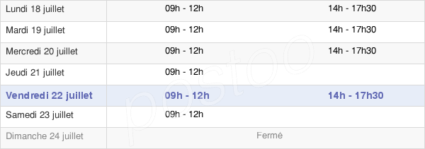 horaires d'ouverture de la Mairie De Servon-Sur-Vilaine