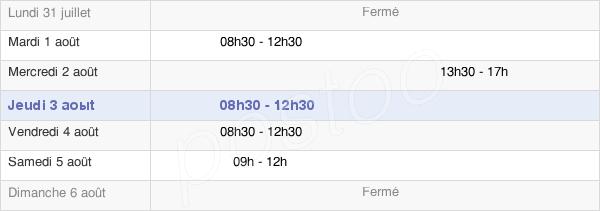 horaires d'ouverture de la Mairie De Saint-Marc-Sur-Couesnon
