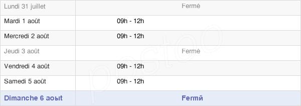 horaires d'ouverture de la Mairie De Saint-Georges-De-Chesné