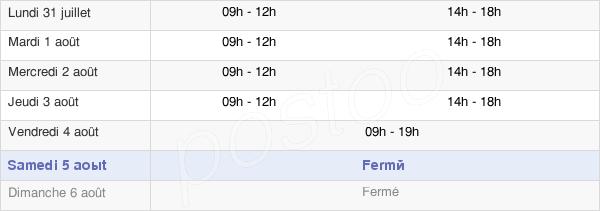 horaires d'ouverture de la Mairie De Châteaubourg