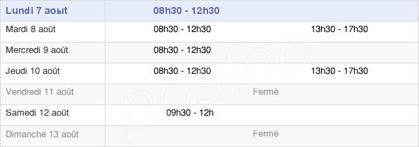 horaires d'ouverture de la Mairie De La Bazouge-Du-Désert