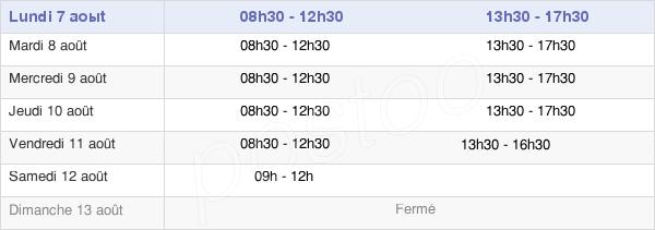 horaires d'ouverture de la Mairie De Dol-De-Bretagne
