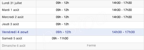 horaires d'ouverture de la Mairie De Saint-Aubin-Du-Cormier