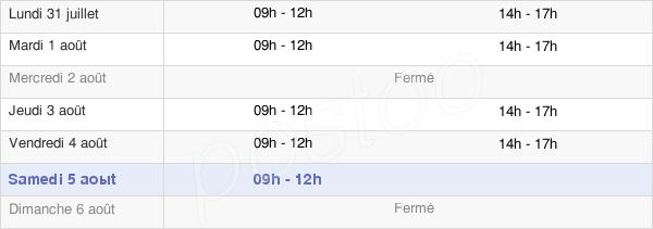 horaires d'ouverture de la Mairie De Tresboeuf