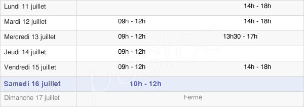 horaires d'ouverture de la Mairie De La Chapelle-Thouarault