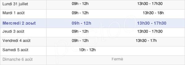 horaires d'ouverture de la Mairie De Vern-Sur-Seiche